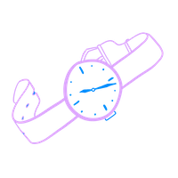 An illustration of a watch